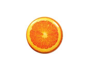 1 Inch Pinback Button Original - Sliced Orange