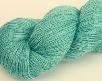 "Kettle Dyed Lace Yarn, Baby Alpaca, Silk, and Cashmere Lace Weight, in ""Tidepool"""