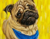 8x10 CUSTOM PET PORTRAIT from your photos!  Oil Painting on Canvas!  Colorful Art: Dog, Cat, Bird, Lizard, Any Pet!