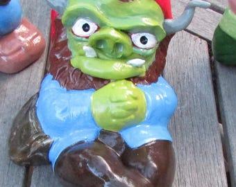 Red cap goblin altered yard monster art