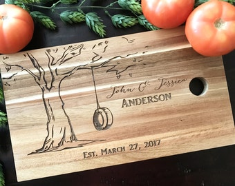 Personalized cutting board-wedding gift- gift under 30