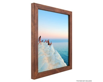 craig frames 11x17 inch modern canadian walnut picture frame bauhaus 075 wide 720311117