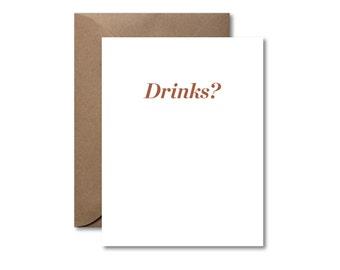 Drinks?  |  Letterpress Card