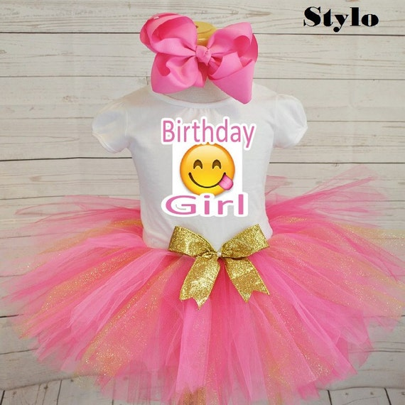 Emoji birthday outfitFREE SHIPPING birthday outfit pink