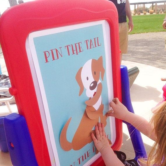 INSTANT DOWNLOAD Pin The Tail On The Puppy Puppy Pawty