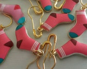 Sock Knitting/Crochet Stitch Markers-Project Bag Charm-Purse/Planner Charm-Progress Keeper-*Imperfection*AS IS*SALE*Pink