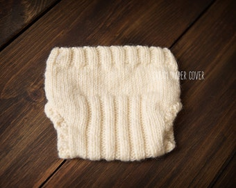 Newborn diaper cover cream ready to ship Photography Prop RTS