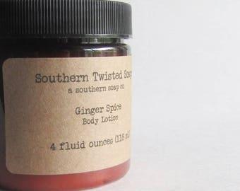 Ginger Spice Body Lotion - Handmade Lotion - Hand Lotion - Handmade Bath & Beauty