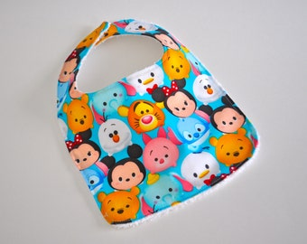 Mickey Mouse baby bibs, Disney Tsum Tsums baby bib, Tsum Tsum bib, Mickey Mouse bib, Tsum Tsums baby, Disney Baby bib, Minnie Mouse baby bib