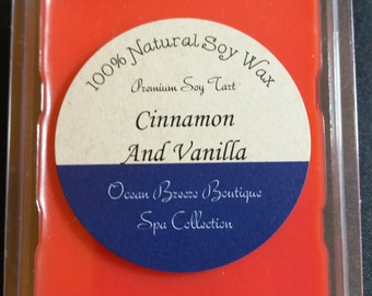 Cinnamon & Vanilla Soy Wax Tarts - Holiday, Christmas Scents!