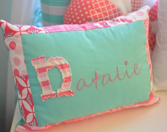 Custom Hand Embroidered Nursery Pillow