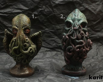 Polymer clay Cthulhu chess pieces OOAK