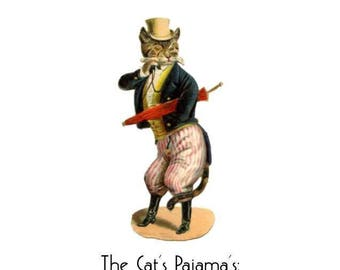 1920s Art Deco Slang Note Cards / Vintage Art Flapper Great Gatsby Idioms Sayings Phrases / Cat's Pajamas / Bee's Knees / Cat's Meow