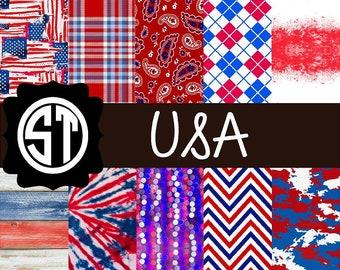 USA Patterns Vinyl (Indoor, Outdoor,  Glitter Vinyl, HTV iron on, Glitter Heat Transfer) Lamination available Mask not included