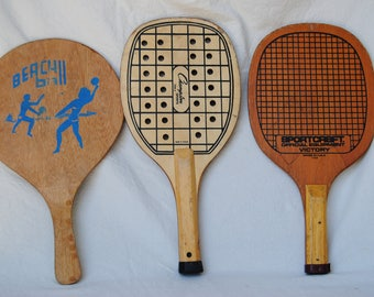 Paddleball racquet collection