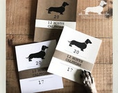 Doxie Love. 2017 Desktop Calendar -- (Vintage-Style, Dog, Dachshund, Weiner Dog, Monthly Calendar, Rustic, Simple, Christmas Gift Under 15)