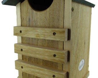 Screech Owl or Saw-Whet Owl House Cedar Nesting Box, JCs Wildlife Free Shipping