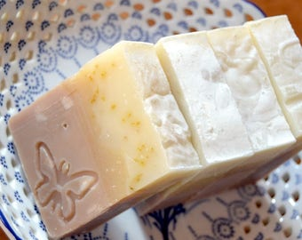 Coconut and Tangerine Soap -  Handmade soap with Shea and Cocoa Butter -  Handmade in BC, Canada