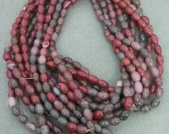 8 x 6 mm Fancey Jasper Mellon Beads