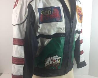 Vintage Las Vegas Leather Jacket Unisex 90's costum theater by STALLION