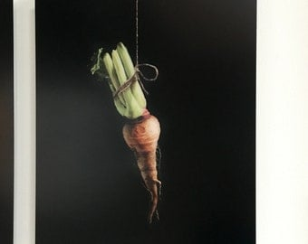 Parsnip Painting Print on Metal