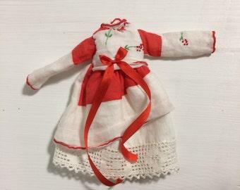 Blythe Doll Hanky Dress Christmas