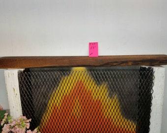 "Reclaimed Barnwood Beam Fireplace Mantle 53"" Long Barn Wood Shelf Beam"