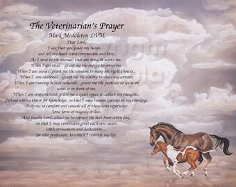 """VETERINARIAN""""S Prayer Personalized Gift Keepsake"""