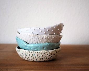 Turquoise Ring Dish Ceramic Bowl Ceramic Plates ~ Textural Ceramics Ceramic Dish Jewelry Dish Ceramic Plate Jewellery Dish Modern Ring Dish