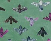 Dreamer by Carrie Bloomston for Windham Fabrics - Save the Bees - Turquoise Green - FQ - Fat Quarter - Cotton Quilt Fabric 417