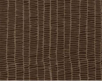 Merrily by Gingiber for Moda - Weave - Chocolate Brown - FQ - Fat Quarter Cotton Quilt Fabric 517