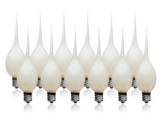 FREE SHIP - Silicone Dipped Light Bulbs, Pack of 12, Wholesale 7 Watt Light Bulb, Great for Electric Candle Lamps & Country Style Lights