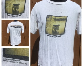 VINTAGE -- 1991 THE REPLACEMENTS -- All Shook Down -- Double Sided Concert T-Shirt -- Tour Shirt -