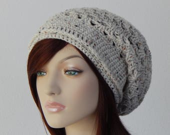 Crochet PATTERN PDF, The Spring Slouch Beanie, Slouchy Hat, Winter Hats, Womens Crochet Hat Pattern, MarlowsGiftCottage, Crochet Slouch Hat