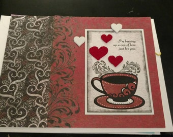 Coffee themed Valentine's Day card