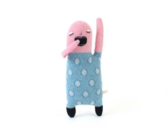 Zee-Zee Sleepyhead - soft knitted lambswool toy, plush toy