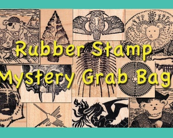 5 Rubber Stamp Mystery Grab Bag Discount Package