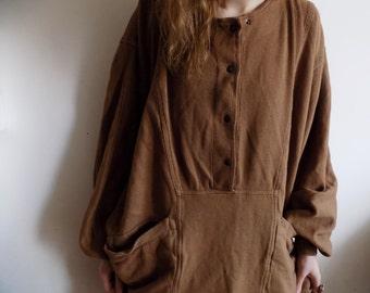 Coconut - VNTG brown baggy dress