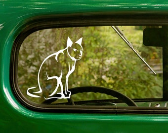 Cat Decal, Cat Sticker, Kitty Decal, Car Decal, Vinyl Sticker, Car Stickers, Laptop Sticker, Vinyl Decal