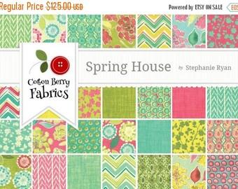 On Sale Spring House Fat Quarter Bundle by Stephanie Ryan for Moda - One Fat Quarter Bundle - 7170AB