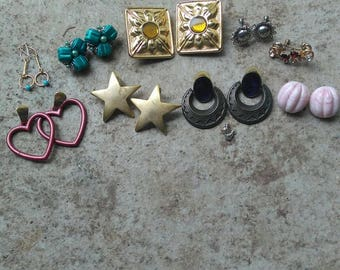 10 Pairs of Vintage and Borderline Vintage Earrings