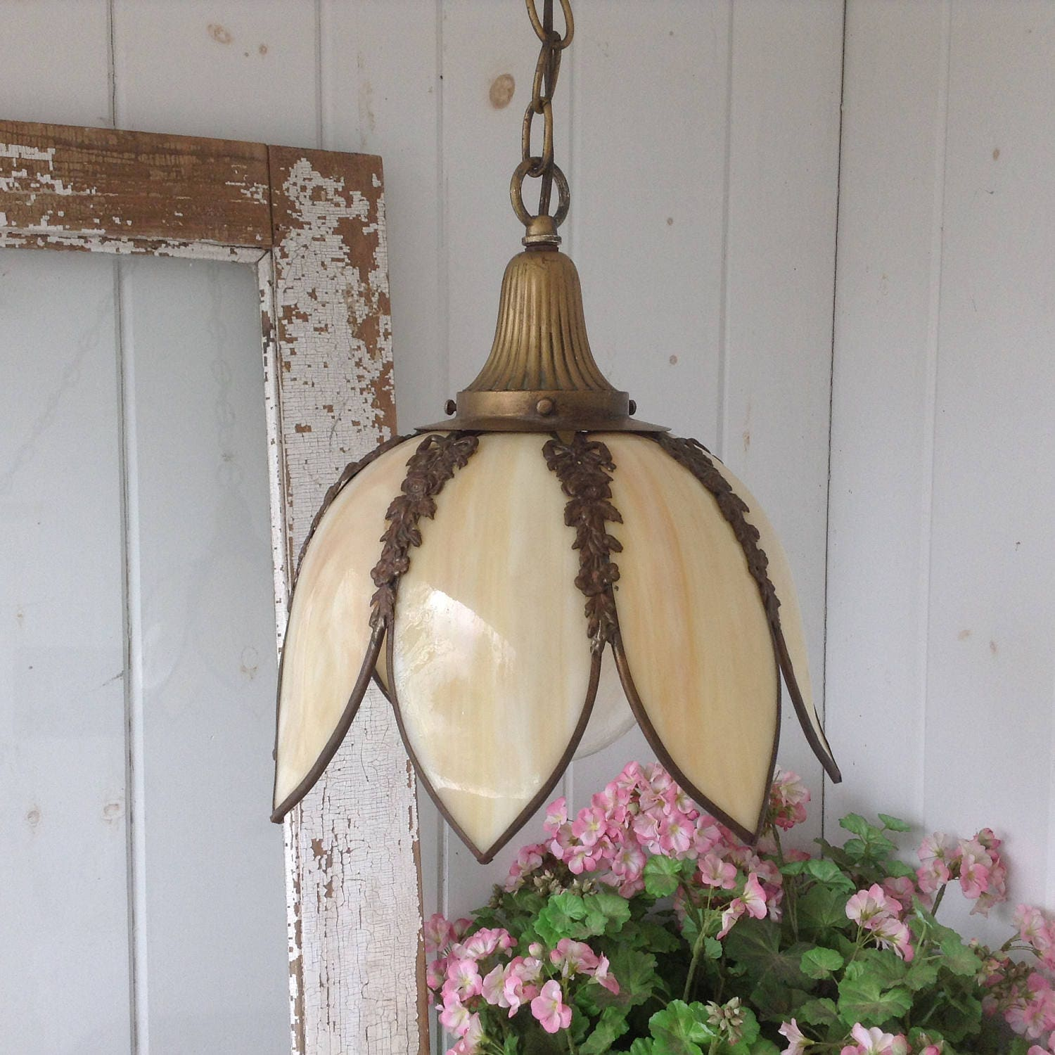 Swag lamp – Small Vintage Chandelier