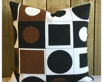 """Cushion Cover Vintage 60s Reciprocation  Fabric Barbara Brown For Heals 20"""" x 20"""""""