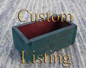6 Custom Size Rustic Box Painted Reclaimed Primitive Folk Art Box