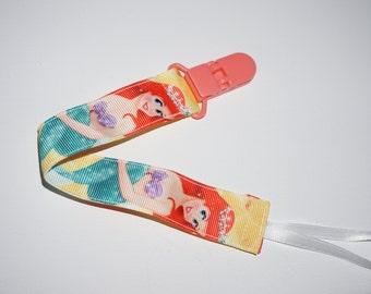 Little Mermaid Pacifier Clip, Ariel Pacifier Clip, Binky Clip
