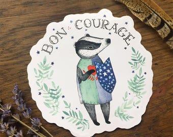 Bon Courage Sticker