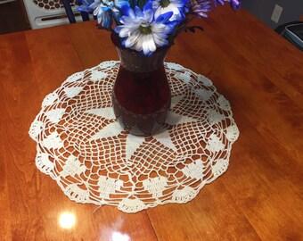 Vintage 20 White hand crochet doily for crafts, shabby chic, housewares, linen, trim, valentines, by MarlenesAttic