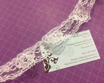 White lace, 1 yard of 1 1/4 inch White Ruffled Chantilly lace trim for bridal, baby, wedding supplies, lingerie by MarlenesAttic - Item 1RR