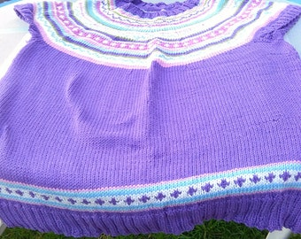 Violet cotton fair isle summer tunic size 14/16