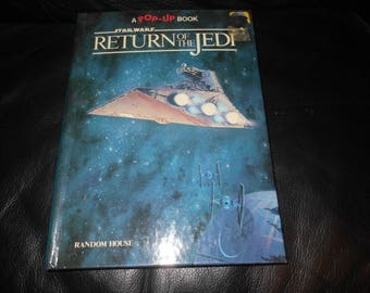 1983 Return Of The Jedi pop up book - hardcover - vintage 80s star wars childrens book